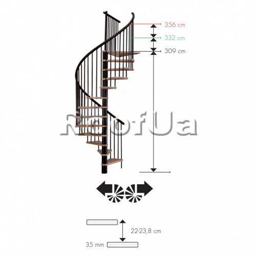 Minka spiral effect 120см