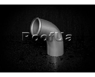 Отвод трубы struga 125/90 мм