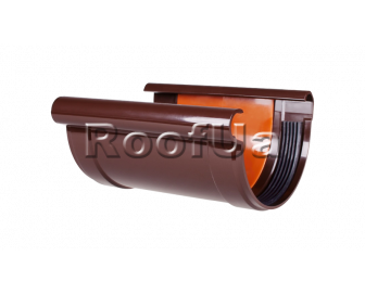 Соединитель желоба с вкладкой profil 90/75 мм