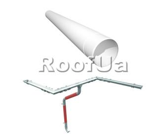 Труба водосточная длина 1м ruukki 125/90 мм