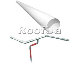Труба водосточная длина 2,5м ruukki 150/100 мм