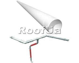 Труба водосточная длина 4м ruukki 150/100 мм