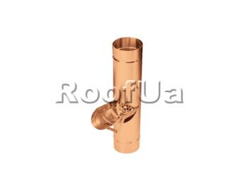 Сливная створка трубы с ситом zambelli 127/80 мм