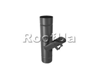 Сливная створка трубы без сита zambelli 127/80 мм