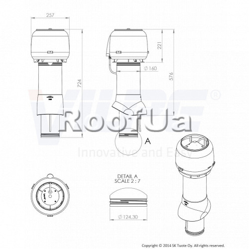 Принудительная вентиляция vilpe e 120p/125/500