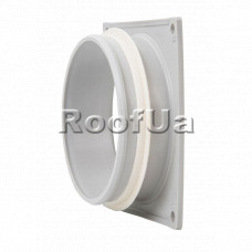 Фланец наружной вентиляционной решетки 100 мм (150x150)