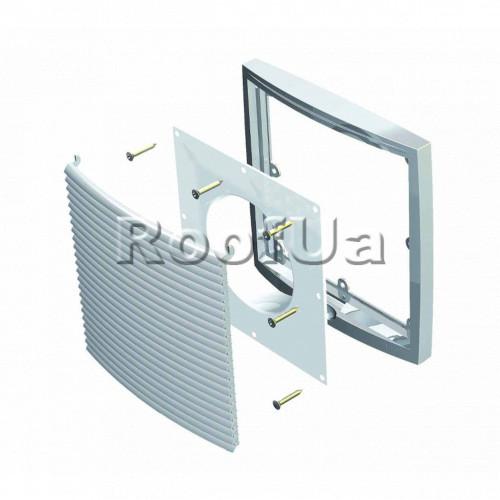 Фланец наружной вентиляционной решетки 125 мм (240x240)
