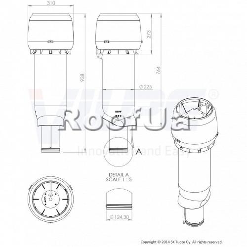 Принудительная вентиляция vilpe e 190p/125/700